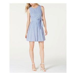 New! Pappagallo blue stripe fit & flare dress 6